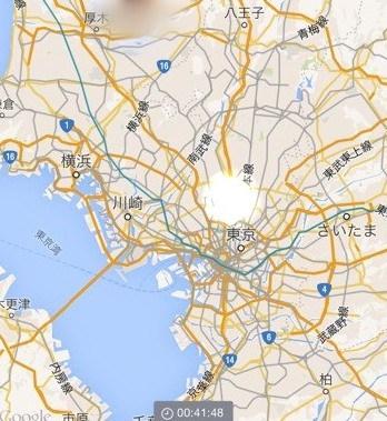 LINEHEREの位置情報画像。