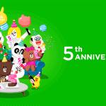 おめでとうLINE5周年! 注目したいサービスと無料スタンプ情報