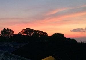 LINEで男から送られてきた写真「夕日」