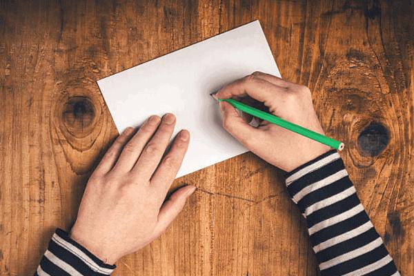 <ステップ3>LINEのIDを紙に書く